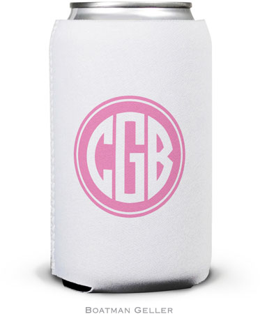 Boatman Geller - Create-Your-Own Personalized Can Koozies (Solid Inset Circle Preset)