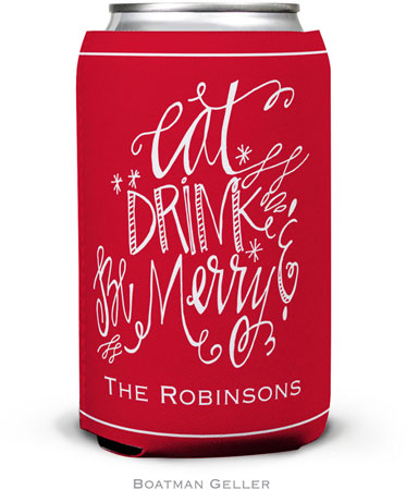 Boatman Geller - Personalized Can Koozies (Eat Drink Be Merry)