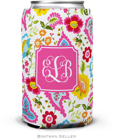 Boatman Geller - Personalized Can Koozies (Bright Floral Preset)