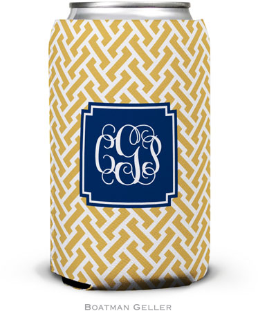 Boatman Geller - Personalized Can Koozies (Stella Gold Preset)