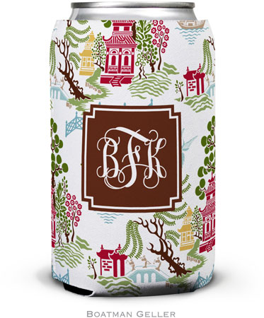 Boatman Geller - Personalized Can Koozies (Chinoiserie Autumn Preset)