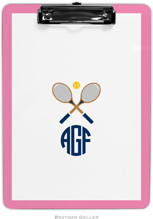 Boatman Geller - Create-Your-Own Personalized Clipboards (Crossed Racquets)