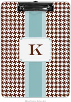 Boatman Geller - Personalized Clipboards (Alex Houndstooth Chocolate)