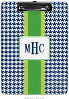 Boatman Geller - Personalized Clipboards (Alex Houndstooth Navy)