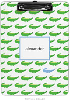 Boatman Geller - Personalized Clipboards (Alligator Repeat Blue)