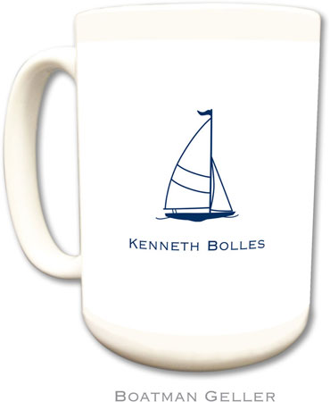 Boatman Geller - Create-Your-Own Personalized Coffee Mugs (Sailboat Classic)