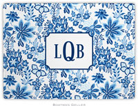 Boatman Geller - Personalized Cutting Boards (Classic Floral Blue)