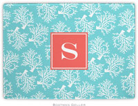 Boatman Geller - Personalized Cutting Boards (Coral Repeat Teal Preset)