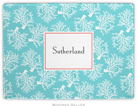 Boatman Geller - Personalized Cutting Boards (Coral Repeat Teal)