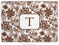 Boatman Geller - Personalized Cutting Boards (Classic Floral Brown)