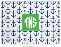 Boatman Geller - Personalized Cutting Boards (Anchors Navy Preset)