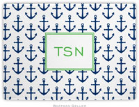 Boatman Geller - Personalized Cutting Boards (Anchors Navy)