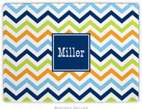 Boatman Geller - Personalized Cutting Boards (Chevron Blue Orange & Lime Preset)