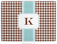 Boatman Geller - Personalized Cutting Boards (Alex Houndstooth Chocolate)
