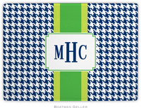 Boatman Geller - Personalized Cutting Boards (Alex Houndstooth Navy)