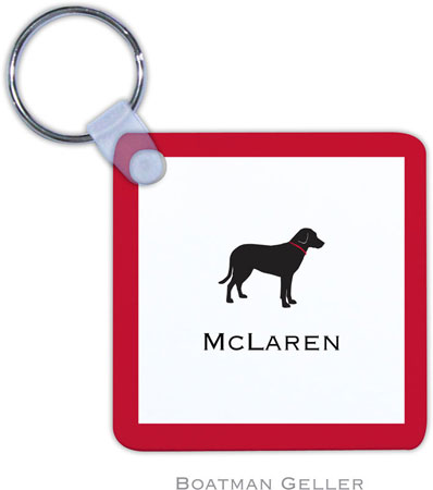 Boatman Geller - Create-Your-Own Personalized Key Chains (Lab Black)