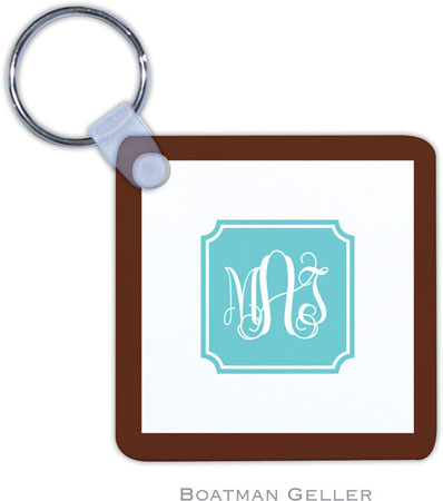 Boatman Geller - Create-Your-Own Personalized Key Chains (Solid Inset Round Corners Preset)