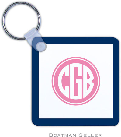 Boatman Geller - Create-Your-Own Personalized Key Chains (Solid Inset Circle Preset)