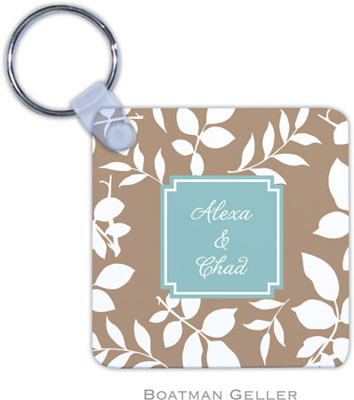 Boatman Geller - Create-Your-Own Personalized Key Chains (Silo Leaves Mocha Preset)