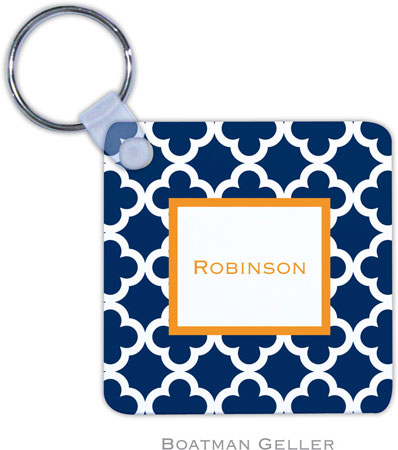 Boatman Geller - Create-Your-Own Personalized Key Chains (Bristol Tile Navy)