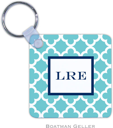 Boatman Geller - Create-Your-Own Personalized Key Chains (Bristol Tile Teal)