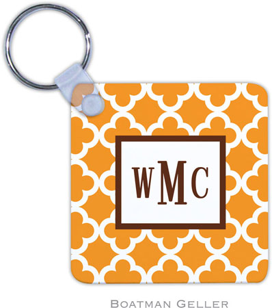 Boatman Geller - Create-Your-Own Personalized Key Chains (Bristol Tile Tangerine)