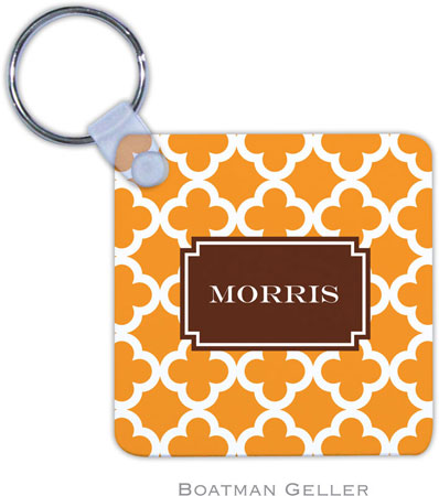 Boatman Geller - Create-Your-Own Personalized Key Chains (Bristol Tile Tangerine Preset)