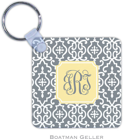 Boatman Geller - Create-Your-Own Personalized Key Chains (Wrought Iron Gray Preset)