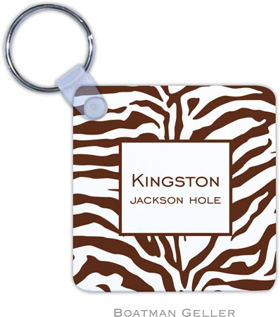 Boatman Geller - Create-Your-Own Personalized Key Chains (Zebra Chocolate)