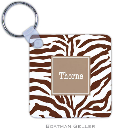 Boatman Geller - Create-Your-Own Personalized Key Chains (Zebra Chocolate Preset)