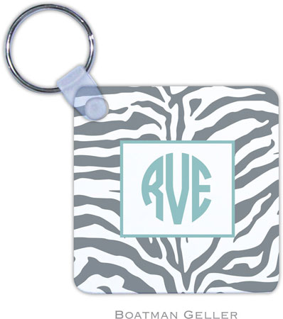 Boatman Geller - Create-Your-Own Personalized Key Chains (Zebra Gray)
