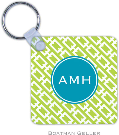 Boatman Geller - Create-Your-Own Personalized Key Chains (Chain Link Lime Preset)