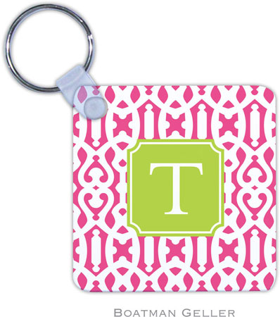 Boatman Geller - Create-Your-Own Personalized Key Chains (Cameron Raspberry Preset)