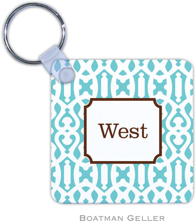 Boatman Geller - Create-Your-Own Personalized Key Chains (Cameron Teal)
