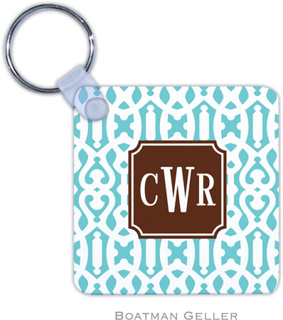Boatman Geller - Create-Your-Own Personalized Key Chains (Cameron Teal Preset)
