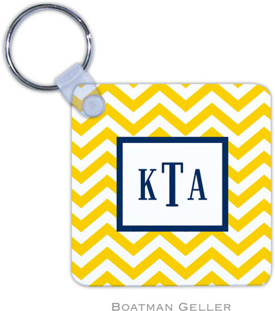 Boatman Geller - Create-Your-Own Personalized Key Chains (Chevron Sunflower)