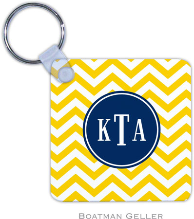 Boatman Geller - Create-Your-Own Personalized Key Chains (Chevron Sunflower Preset)