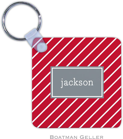 Boatman Geller - Create-Your-Own Personalized Key Chains (Kent Stripe Cherry Preset)