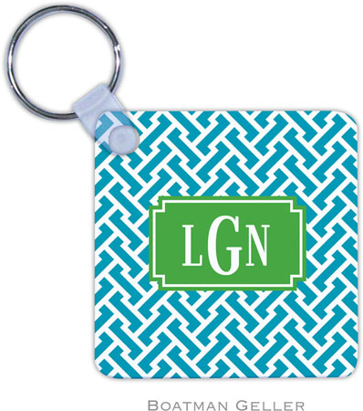 Boatman Geller - Create-Your-Own Personalized Key Chains (Stella Turquoise Preset)