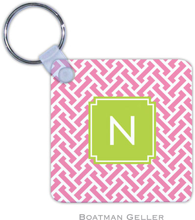 Boatman Geller - Create-Your-Own Personalized Key Chains (Stella Pink Preset)