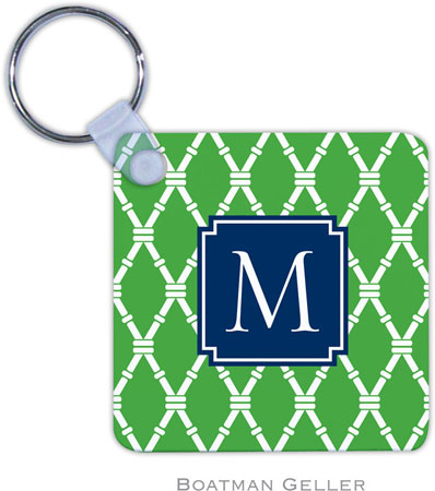 Boatman Geller - Create-Your-Own Personalized Key Chains (Bamboo Kelly Preset)