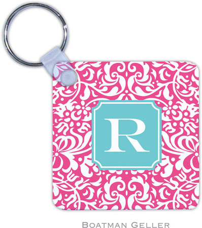 Boatman Geller - Create-Your-Own Personalized Key Chains (Chloe Raspberry Preset)