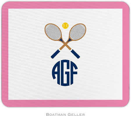 Boatman Geller - Create-Your-Own Personalized Mouse Pads (Crossed Racquets)