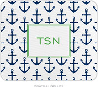 Boatman Geller - Personalized Mousepads (Anchors Navy)