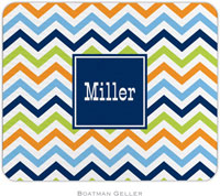 Boatman Geller - Personalized Mousepads (Chevron Blue Orange & Lime Preset)
