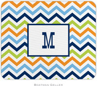 Boatman Geller - Personalized Mousepads (Chevron Blue Orange & Lime)