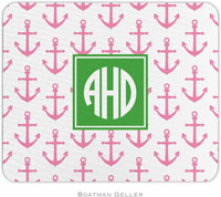 Boatman Geller - Personalized Mousepads (Anchors Pink Preset)