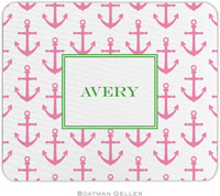 Boatman Geller - Personalized Mousepads (Anchors Pink)