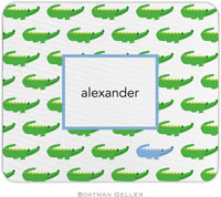 Boatman Geller - Personalized Mousepads (Alligator Repeat Blue)