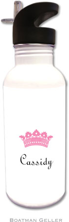 Boatman Geller - Create-Your-Own Personalized Water Bottles (Princess Crown)